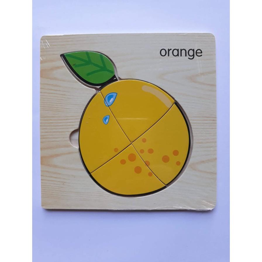 Ghép hình đơn giản - hoa quả