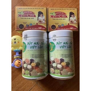 Combo lợi sữa Việt Lộc ☘Freeship☘️{2 ngũ cốc+2 cốm}