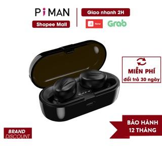Tai nghe bluetooth 5.0 không dây nhét tai mini thể thao gaming pin trâu đèn LED hiển thị phần trăm pin Piman P14 thumbnail