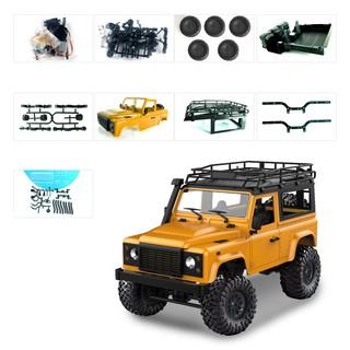 Bộ KIT: Xe ô tô 2 cầu Offroad Land Rover D90 4×4 1:12 – Rock Crawler (Màu cam)