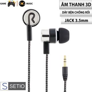 FREESHIP - Tai nghe nhét tai có dây SK-17 Extra Bass dòng tai nghe Gaming, jack 3.5mm tương thích với điện thoại