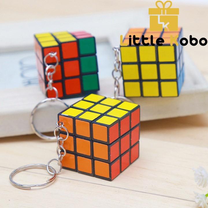 Móc Khóa Rubik 3x3 Xoay Được Khối Lập Phương Rubik 3 Tầng Keychain