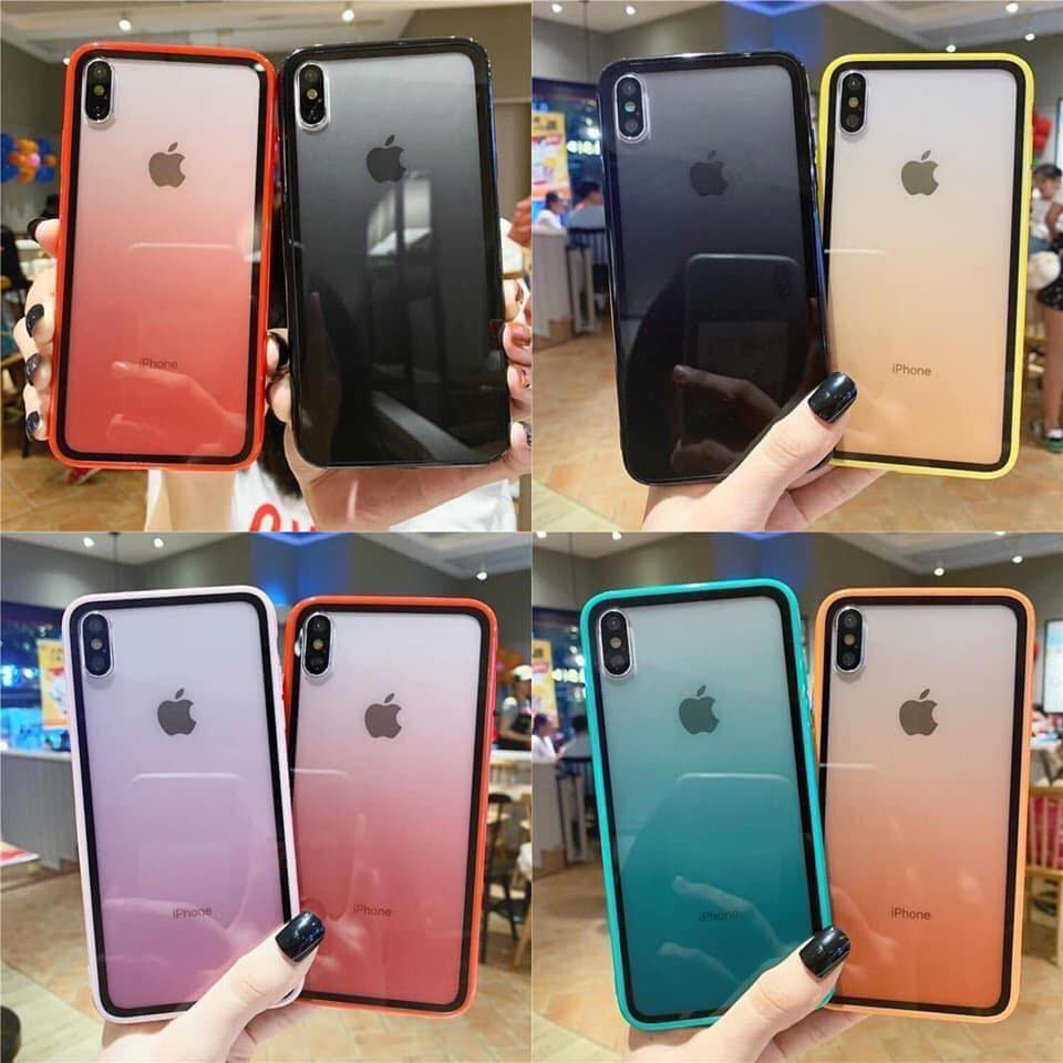 Ốp Lưng Ombre Giả Kính 6 Màu Siêu Đẹp (Hot) - Ốp Iphone