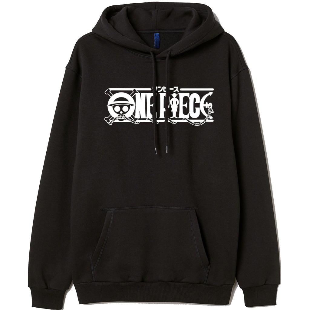 Áo Hoodie One Piece Màu Đen