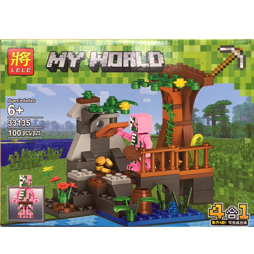 Bộ xếp hình lego My World MineCraft 100 pcs