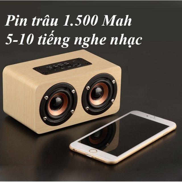 Loa Bluetooth 10W gỗ V5 Công nghệ Hifi âm Bass mạnh mẽ