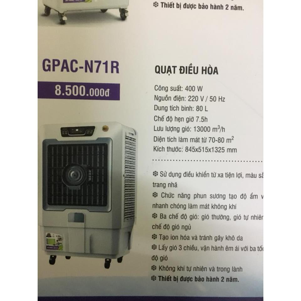 Quạt điều hòa Goldsun Premium GPAC-N71R