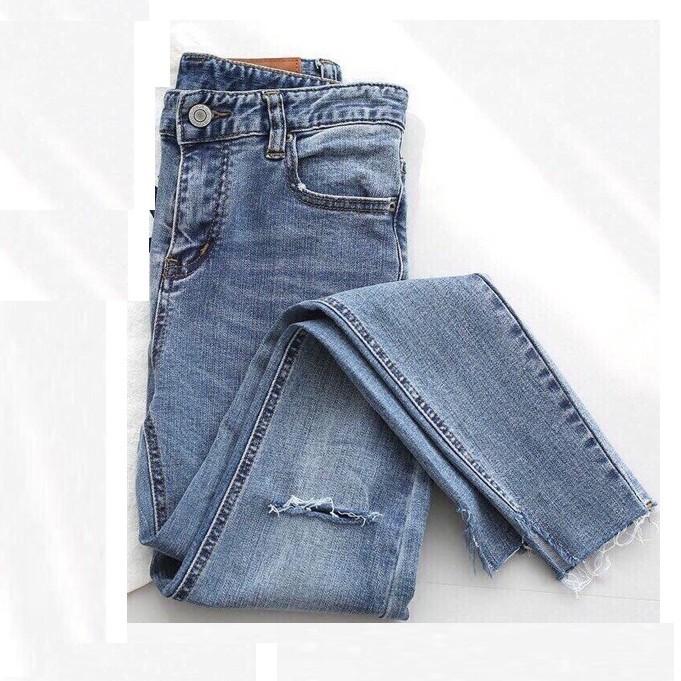 [Mã WASEPRN hoàn 20% xu đơn 99k] quần jean nữ lưng cao rách kiểu có VIDEO mv 548