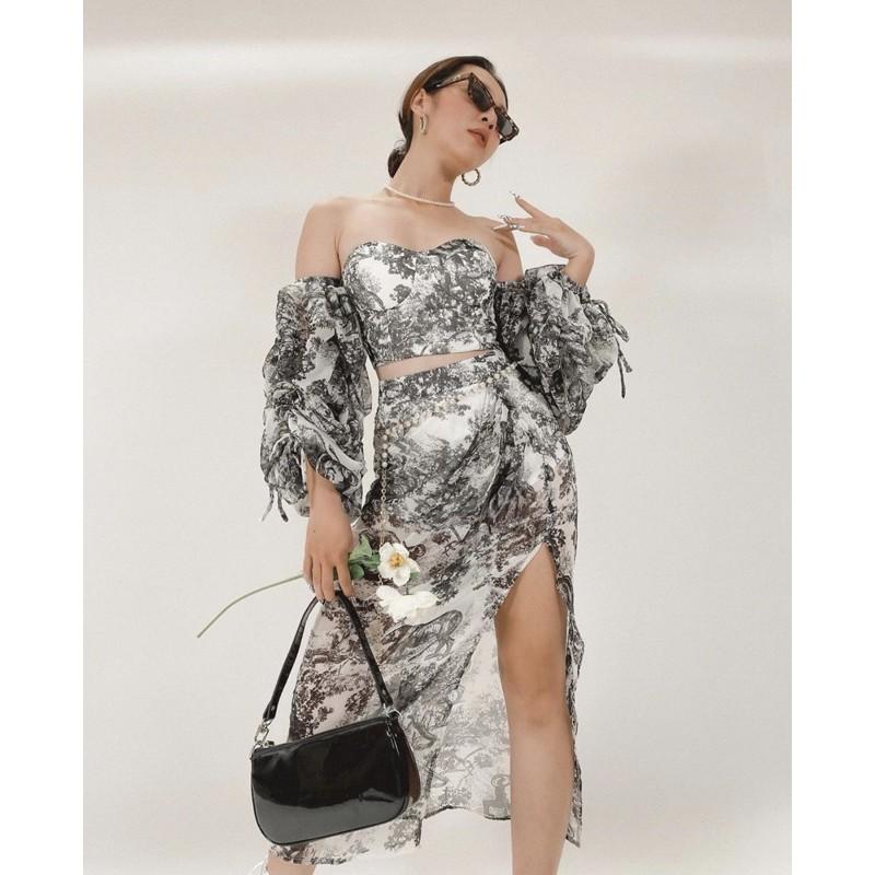 Túi kẹp nách bóng thời trang Trendy Clasico