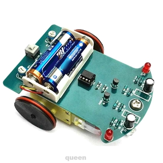 Kit Tracking Toy Car Competition Education Electronics Kids Line Following School Soldering Project Motor