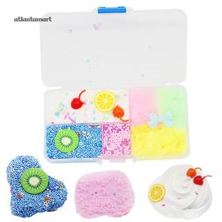 Kiwi Lemon Fruit Plate Cloud Brushed Slime Squishies Clay Decompression Kids Toy