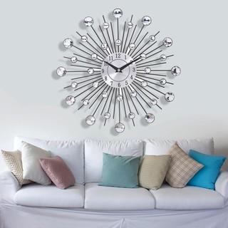 [FORU] ttnight 33cm Metal Wall Clo Decorative Living Room Modern, Crystle Silver