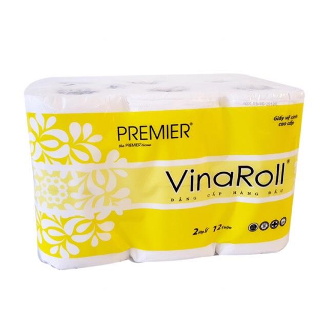 Giấy vệ sinh cao cấp VinaRoll ( 12 cuộn)
