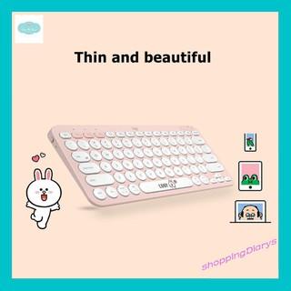 [Sẵn] Bàn phím Logitech K380 Bluetooth – Thỏ Cony – Gấu Brown – Series Line Friends – cực dễ thương