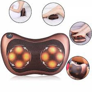 Gối Massage Vai Gáy Hồng Ngoại 8 Bi-Gối matxa lắp trên ghế