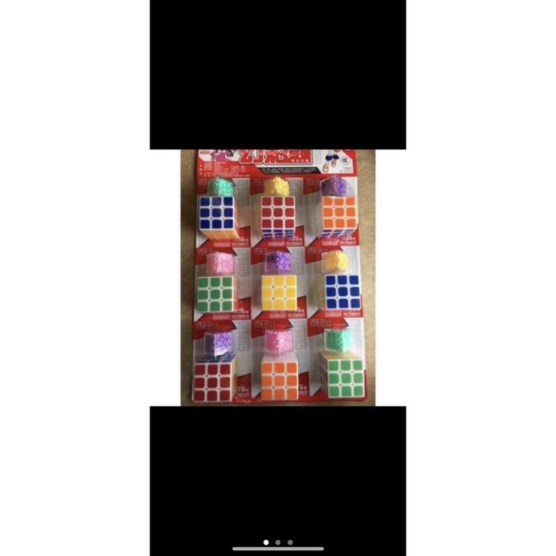 sỉ vỉ 9 bộ rubic loại đẹp kèm đồ chơi ma trận