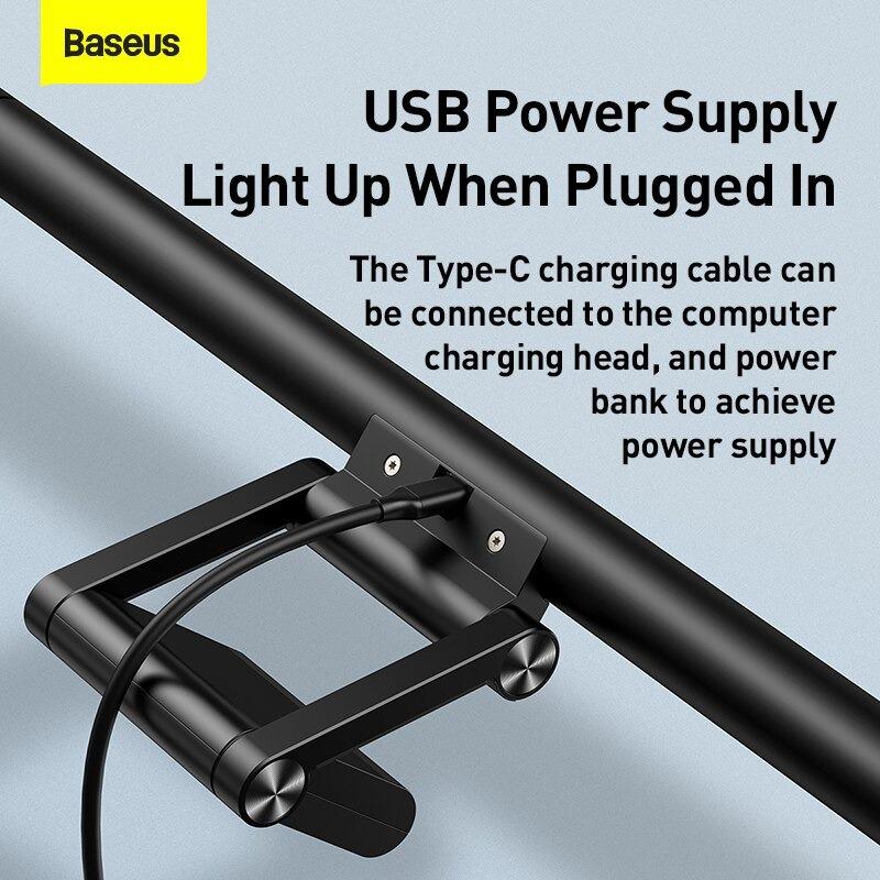 Đèn chiếu sáng Baseus dùng làm đèn kẹp máy tính, đèn LED để bàn, đèn đọc sách (Pro)