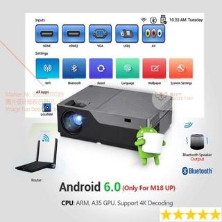 Máy chiếu phim Mini Full HD hệ điều hành Android chiếu ban ngày kiêm dạy học