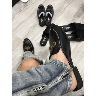 [ Ảnh thật ] giày sục nam da bò, luxury slipper