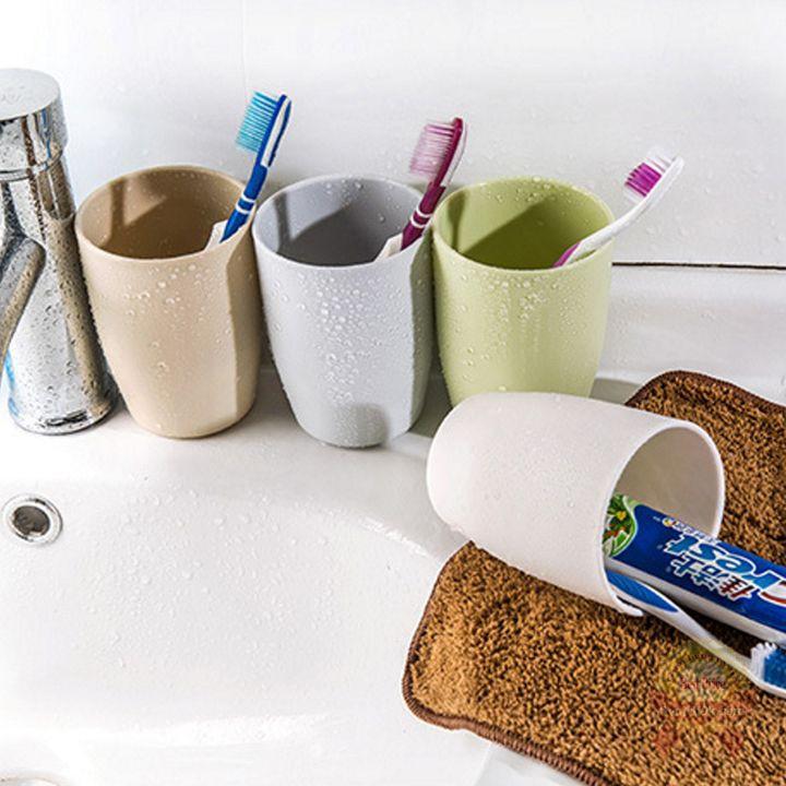 Cốc nhựa đánh răng chịu nhiệt nhám mịn chống trượt dung tích lớn uống nước đựng bàn chải tuýp kem