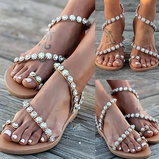 Giày sandal nữ đính đá phong cách Boho thumbnail