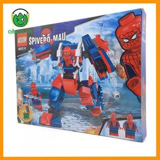 Lego Avenger 229+ Mảnh Ghép Người Nhện Xa Nhà