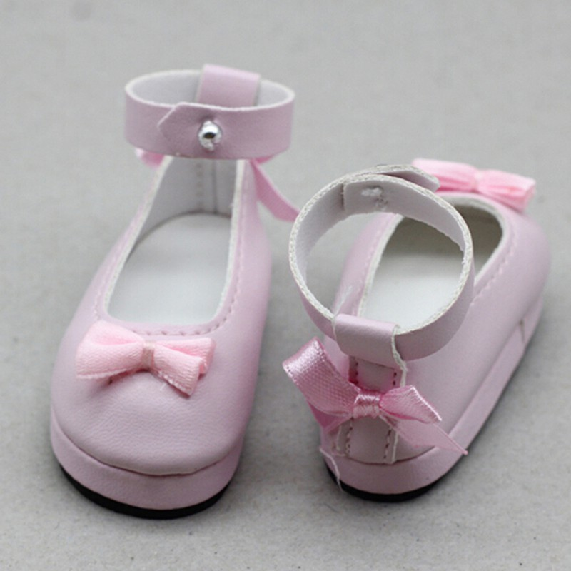 CP☆ 1 Pair 6cm pink doll princess shoes for BJD dolls 1/6 dolls Accessories