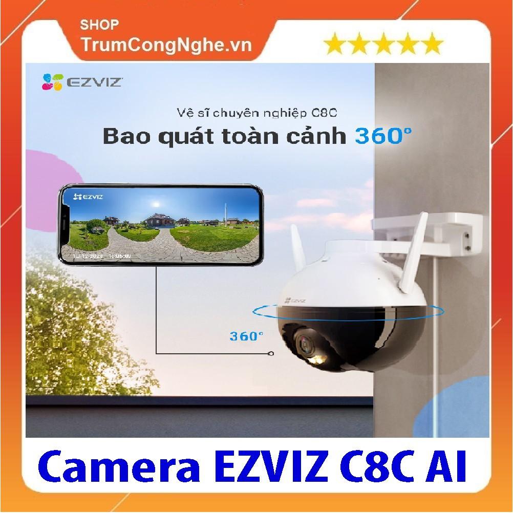 Camera ngoài trời EZVIZ C8C độ phân giải nét 2MP 1080P Xoay 360 độ , nhận diện người AI thông minh