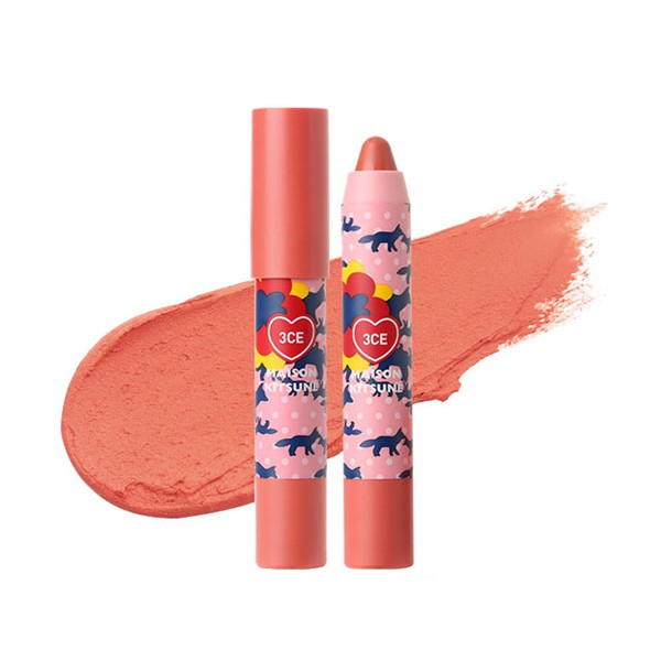 Son Bút Chì 3CE Maison Kitsuné Velvet Lip Crayon