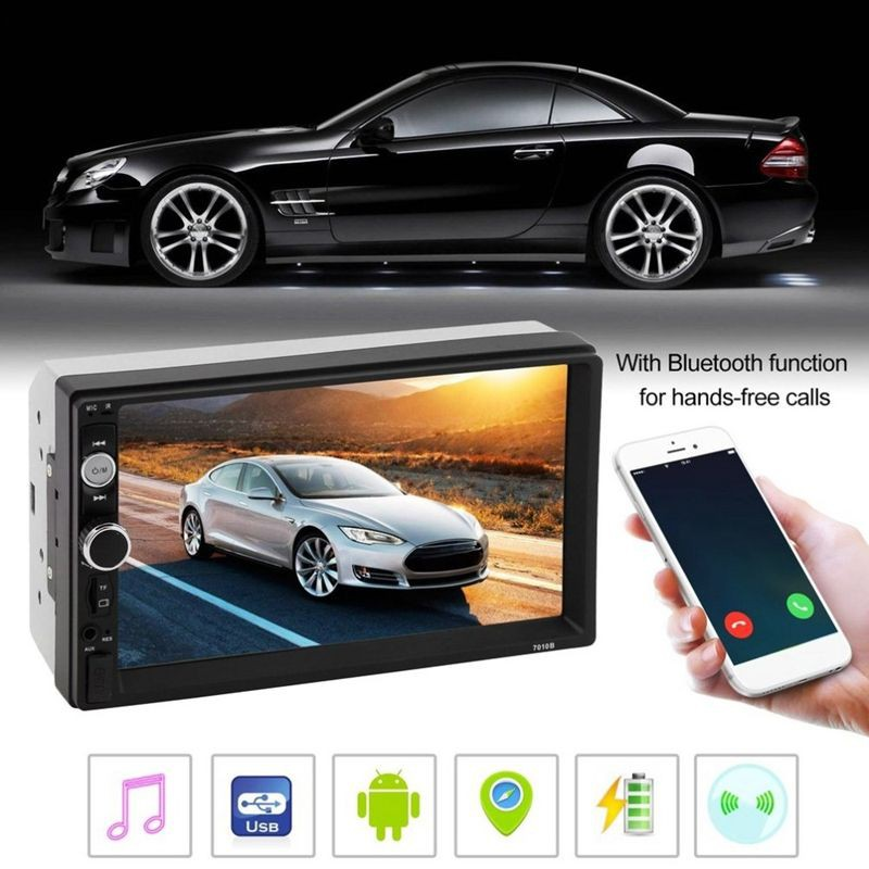[SALE]7010B 7 Inch Bluetooth V2 0 Car Audio Stereo Touch Screen MP5 Player