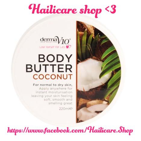 [Hàng Anh] Kem dưỡng Derma V10 Body Butter Coconut 220ml - 2540705 , 850859936 , 322_850859936 , 122000 , Hang-Anh-Kem-duong-Derma-V10-Body-Butter-Coconut-220ml-322_850859936 , shopee.vn , [Hàng Anh] Kem dưỡng Derma V10 Body Butter Coconut 220ml