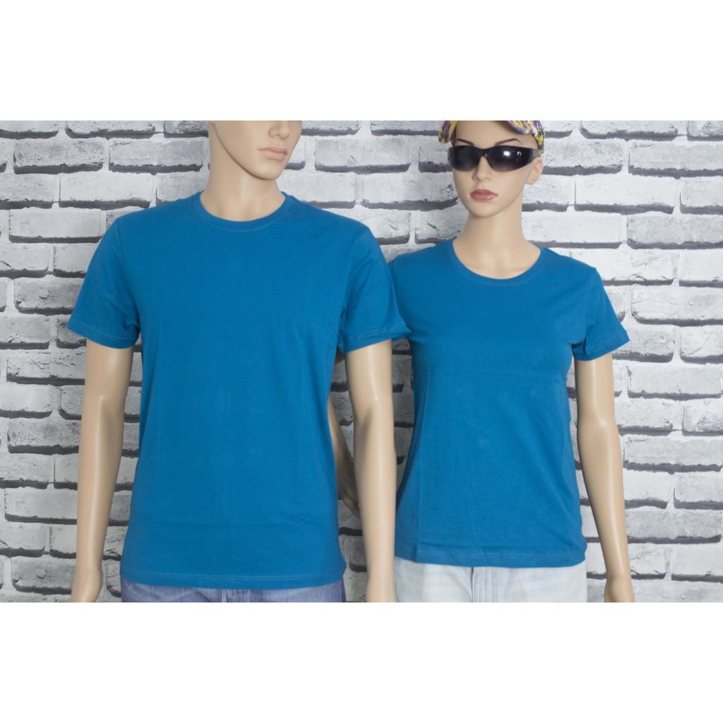 Gold Rhino áo thun nam nữ - áo đôi nam nữ thoát nhiệt công nghệ nhật bản xanh cổ vịt - Áo đôi