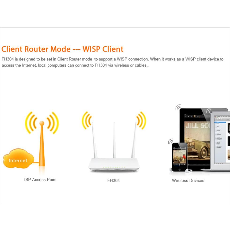 Bộ Thu Phát Wifi Tenda FH304 công suất cao, xuyên tường và có khả năng thu sóng và phát lại