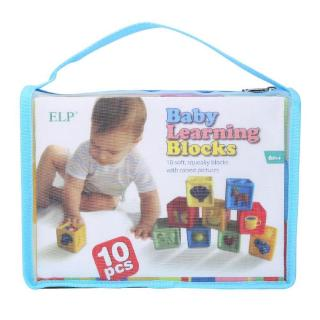 Havashop Baby Infant Toddler Soft Building Blocks Color Fruit Animal Learning Intelligent Toy