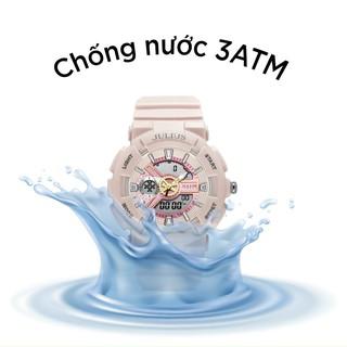 Đồng hồ điện tử nữ nam ⌚mặt tròn hiển thị giờ điện tử và kim dây silicon thời trang cá tính bảo hành 12 tháng