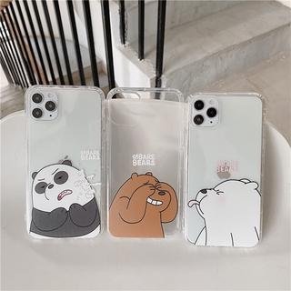 Ốp điện thoại dẻo họa tiết hoạt hình We Bare Bears dễ thương cho iphone 6 6s 7plus 8plus cases apple iphone X XR XS MAX