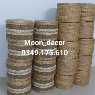 Ghế đôn lục bình đan trơn và đan mix kích d40cm *h30cm