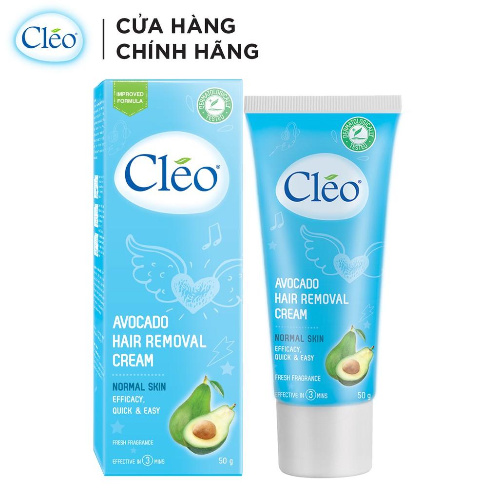 [Mã FMCGM199 - 10% đơn 199K] Kem Tẩy Lông Cho Da Thường Cleo Avocado Hair Removal Cream Normal Skin 25g