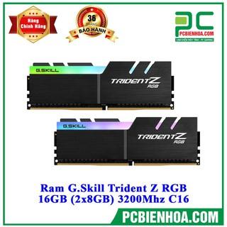 Ram máy tính G.Skill TRIDENT Z RGB - 16GB (8GBx2) DDR4 3200GHz - F4-3200C16D-16GTZR thumbnail