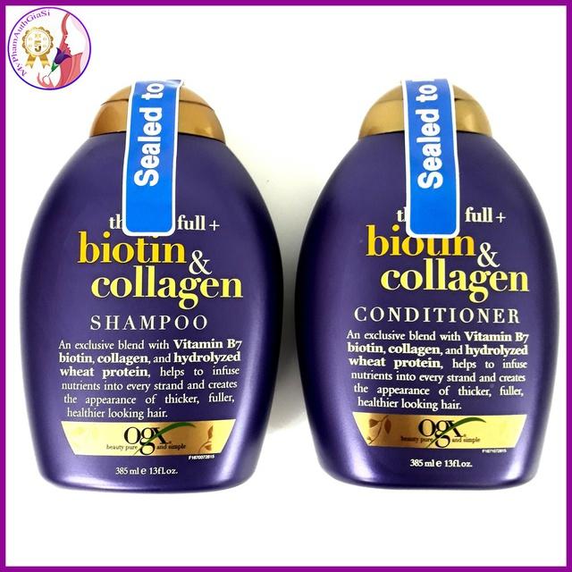 Dầu gội biotin collagen ogx giảm gàu và rụng tóc hỗ trợ mọc tóc 385ml made in usa