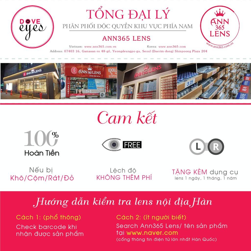 Lens ANN365 Makeup Cao Cấp Hàn Quốc Có Độ, Lens Màu Dự Tiệc Xám, Nâu (Dòng 30 Ngày)