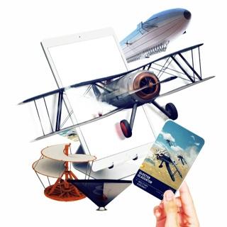 Bộ thẻ máy bay Airplane 4D thực tế ảo siêu thú vị