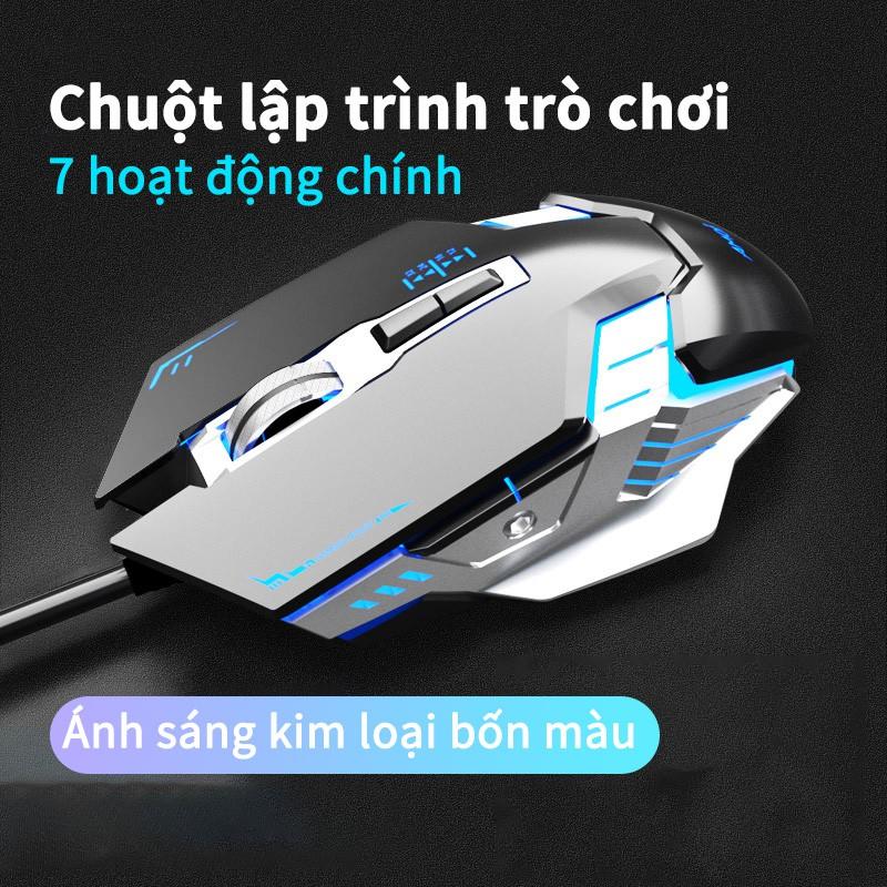 Chuột máy tính có dây Amoi G9 hoạt động yên tĩnh cho chơi game/ sử dụng tại văn phòng