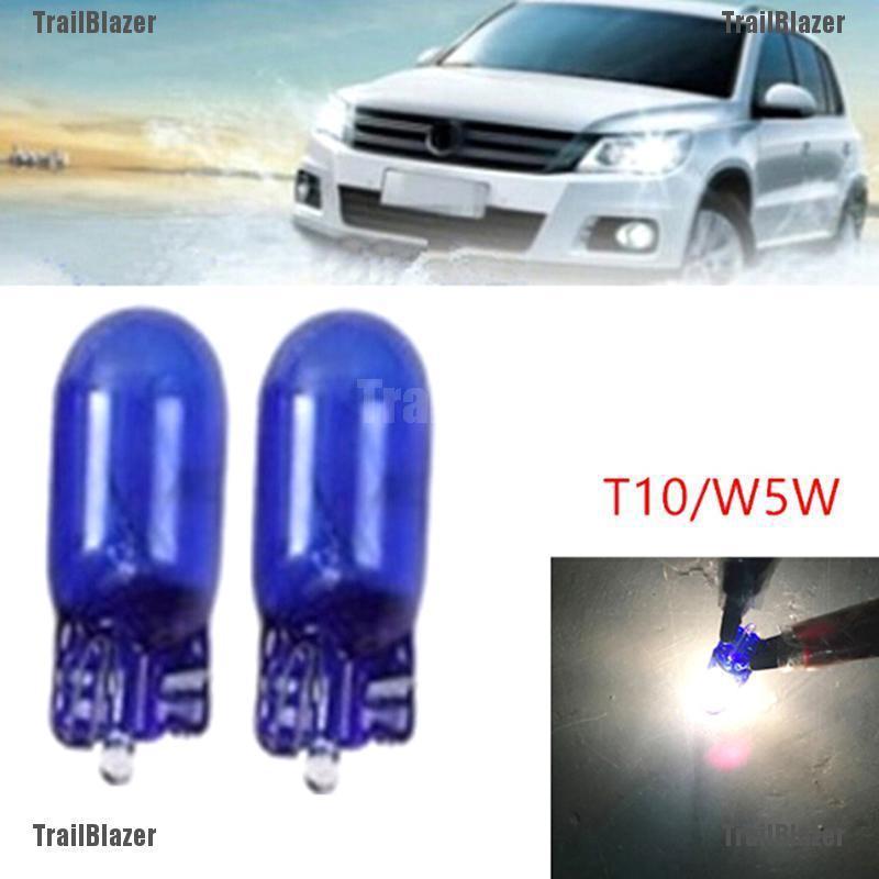 10 bóng đèn pha ánh sáng trắng T10 W5W 5W cho xe hơi