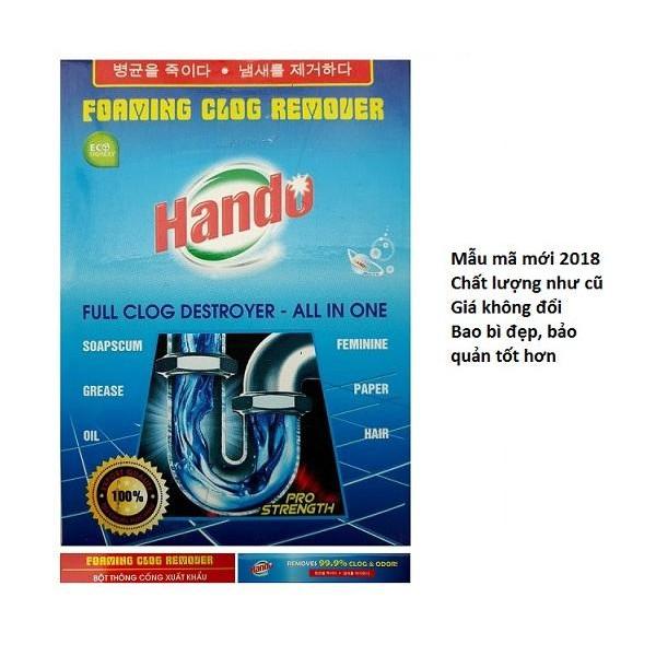 [Không dùng khi tắc bằng chất thải vô cơ] Bột thông cống nghẹt 100g xuất khẩu của Hando - Đã có mẫu