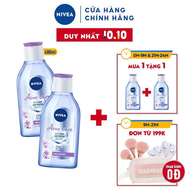 Bộ đôi Nước Tẩy Trang NIVEA Ngừa Mụn Acne Care Micellar Water – 400ml/chai – 80116