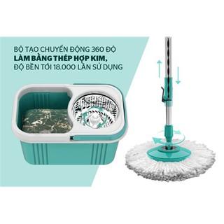 Bộ lau nhà xoay 360 độ HAPPY TIME KH-CL330S Hàng Chính Hãng, Tặng Kèm 1 bông lau