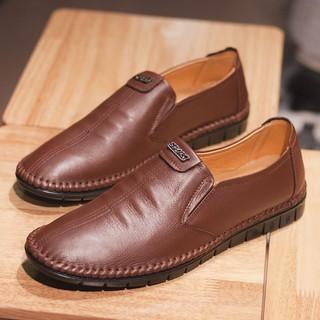 [ XẢ KHO ] Giày lười nam da bò trung tuổi L386 xả 149k