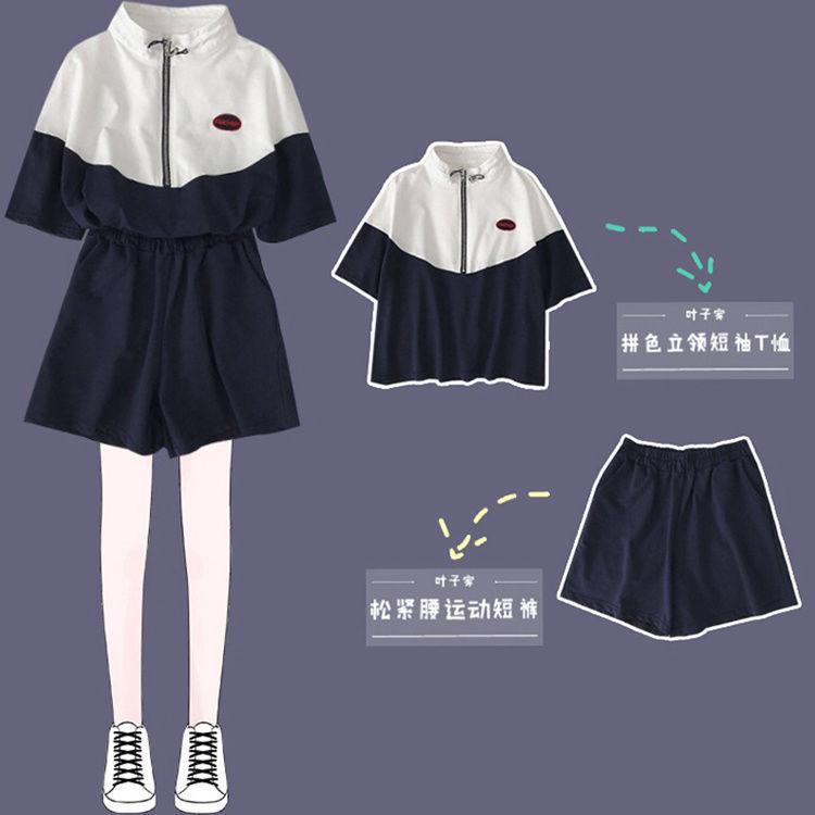 Mặc gì đẹp: Thoải mái với Set Đồ Thể Thao Ngắn Tay Form Rộng Phong Cách Hàn Quốc Dành Cho Nữ