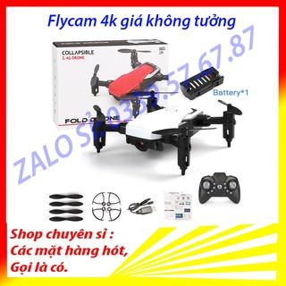 Flycam mini giá rẻ điều khiển từ xa quay phim, chụp ảnh, chống rung kết nối wifi có tay cầm điều khiển Máy bay camera 4k